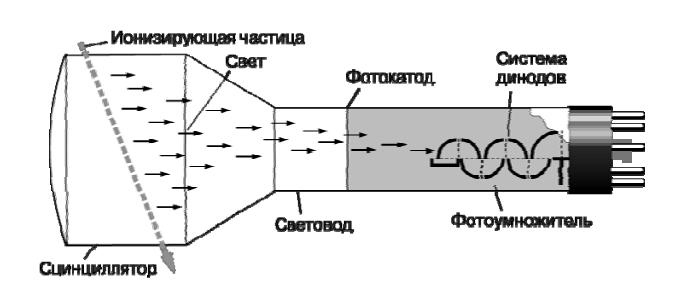 Схема сцинтилляционного счетчика