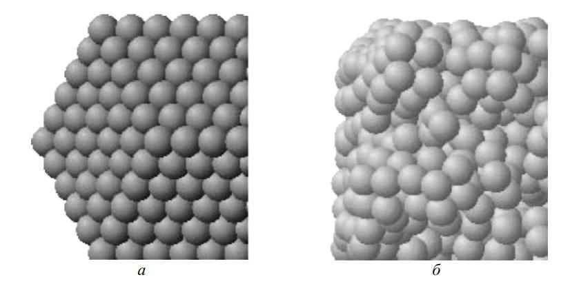 Компьютерные модели структуры дальнего и ближнего порядков