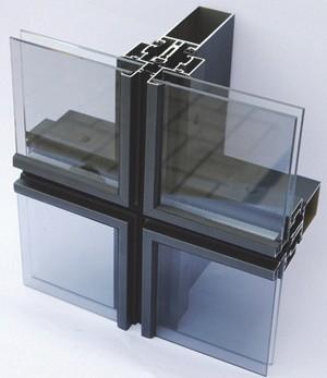 Крепление стекла посредством структурного остекления