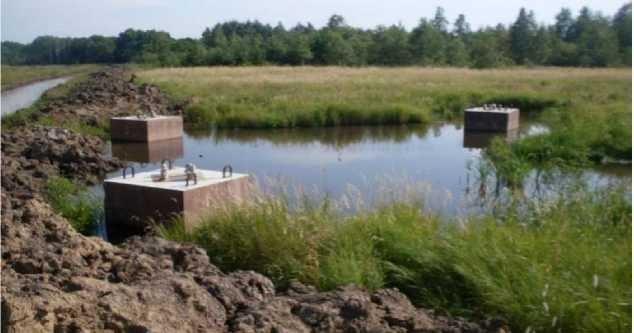 Обводнение участка застройки