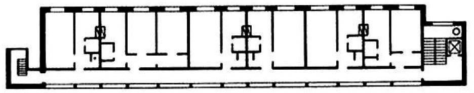 Планировочная структура жилого дома галерейного типа