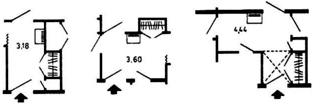 Примеры планировки передних