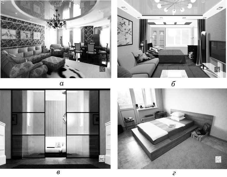 Примеры зонирования общей комнаты