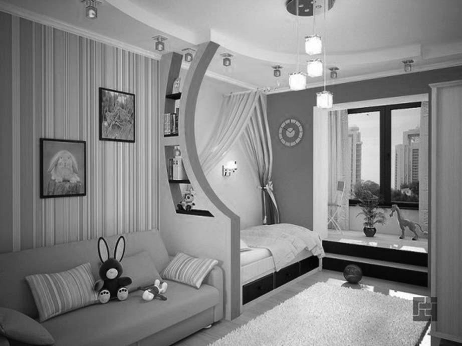 Примеры зонирования спален. Спальня для однополых детей