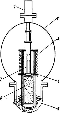 Схема получения ЭКМ методом охлаждения в расплавленном металле