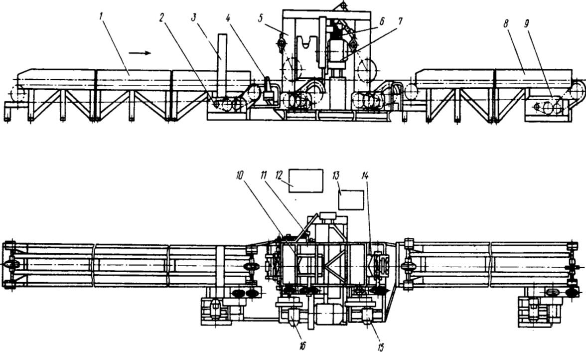 Схема станка ОК100-2