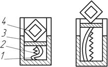 Схема устройства для выдвижения рамки из корпуса