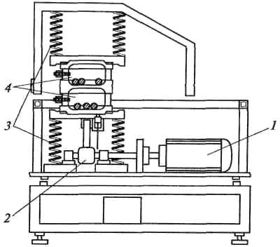 Схема вибрационной мельницы