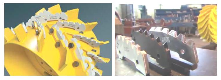 Сменные твердосплавные пластины вальцов