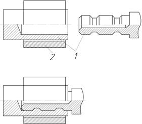 Соединение трубчатых элементов с помощью муфты из сплава ТН-1