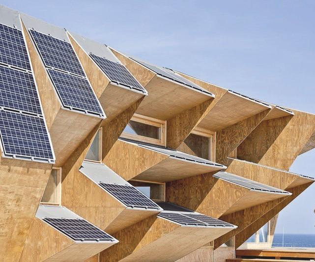 Солнечные батареи как декоративное оформление здания
