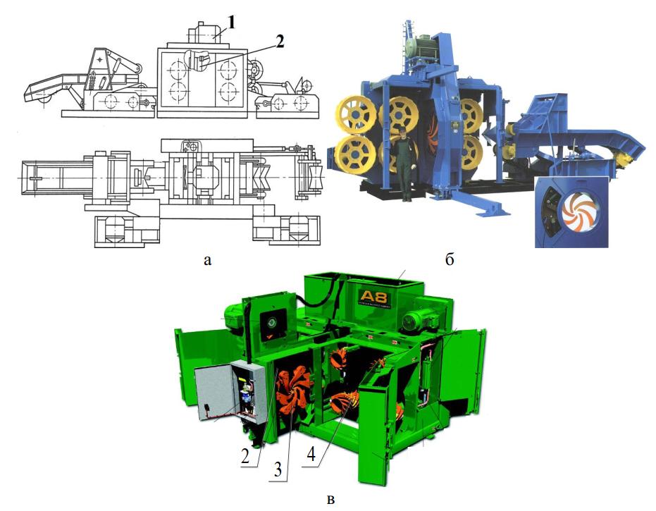 Станки с позиционированием бревна по центру ротора двухвальцовым механизмом подачи