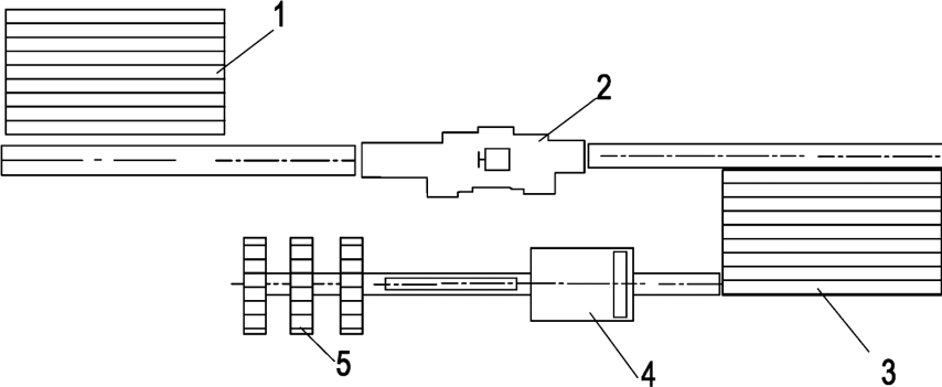 Типовая схема линии для производства балансов с технологией подачи сырья на противопотоке