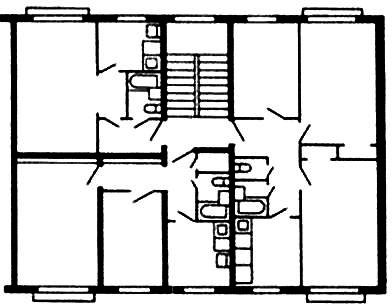 Трехквартирная секция