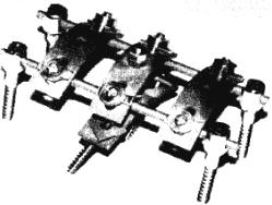 Устройство для коррекции и фиксации позвоночника, изготовленное из нанозернистого титана