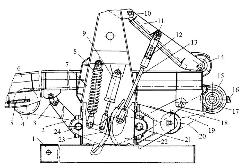 Устройство подающего конвейера станка 2ОК63-1