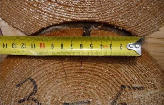 Замеры толщины швов между венцами бревенчатой стены