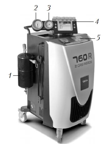 Автоматическая установка для обслуживания автомобильных кондиционеров с хладагентом R134a