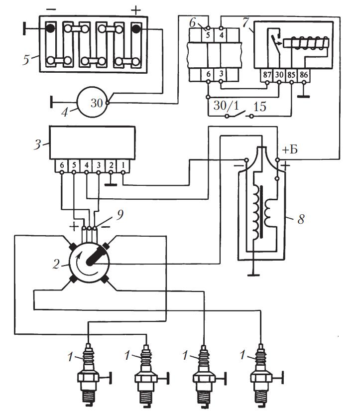 Бесконтактно-транзисторная система зажигания