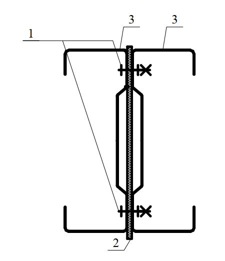 Болтовое соединение тонкостенных холодногнутых профилей