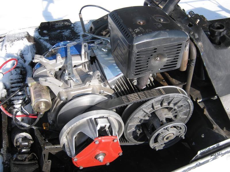 Четырехтактный одноцилиндровый бензиновый двигатель для снегохода Буран 410 см с электростартером