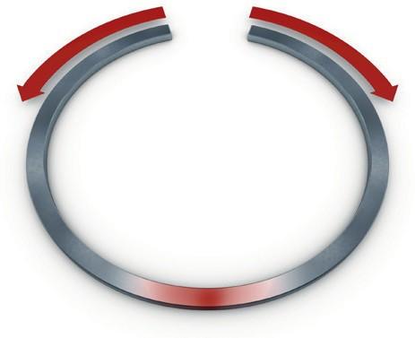 Чрезмерное растягивание поршневого кольца