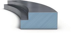 Цилиндрическое компрессионное кольцо с внутренним углом