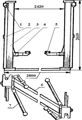 Двухстоечный электромеханический подъемник