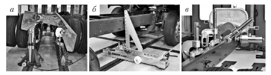 Элементы оборудования для правки рам