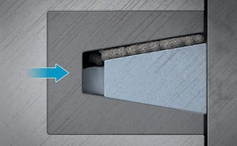 Функция очистки поршневых колец трапециевидного сечения