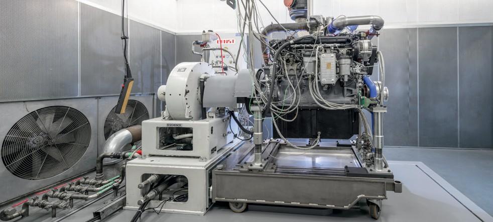 Испытания двигателя на приработку и износ на испытательном стенде