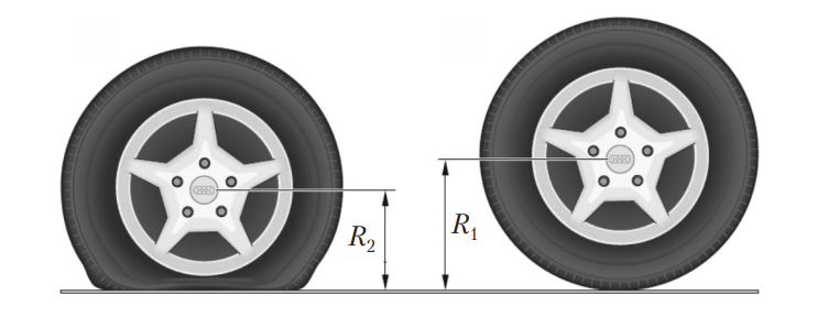 Изменения радиуса колеса при изменении давления воздуха в шине