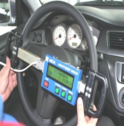 Измеритель суммарного люфта рулевого управления