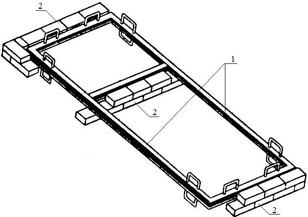 Кладка перегородок с применением металлического шаблона