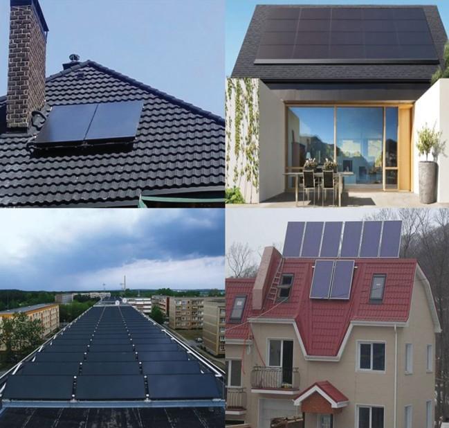 конструкции плоских солнечных коллекторов и варианты их размещения на крышах зданий