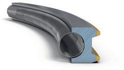 Маслосъемное коробчатое кольцо со сходящимися фасками, пружинным расширителем и хромированными рабочими поясками