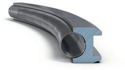 Маслосъемное коробчатое кольцо со сходящимися фасками и пружинным расширителем, изготовленное из азотированной стали