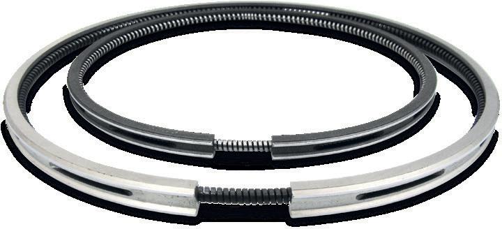 Маслосъемные поршневые кольца из 2-х частей (конструкция с пружинным расширителем)