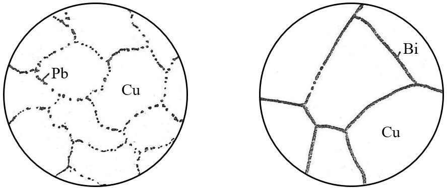 Микроструктура меди с примесью свинца