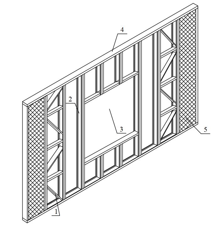 Несущий конструктивный элемент стенового ограждения («картина»)