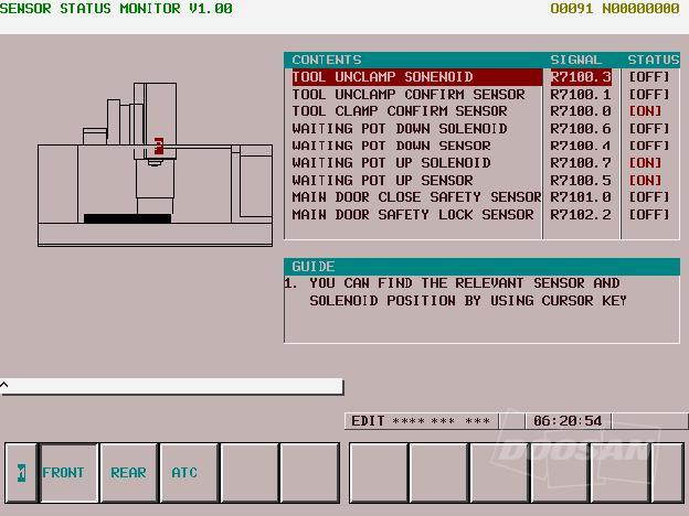 New Operation Status Monitor – Новый экран статуса режима работы