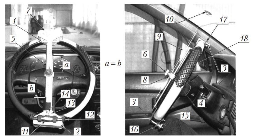 Общий вид механического люфтомера К 524