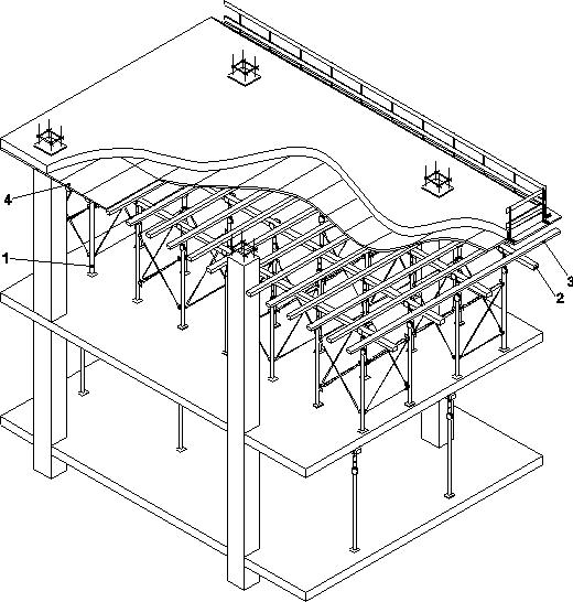 Опалубка перекрытия на основе опорных башен