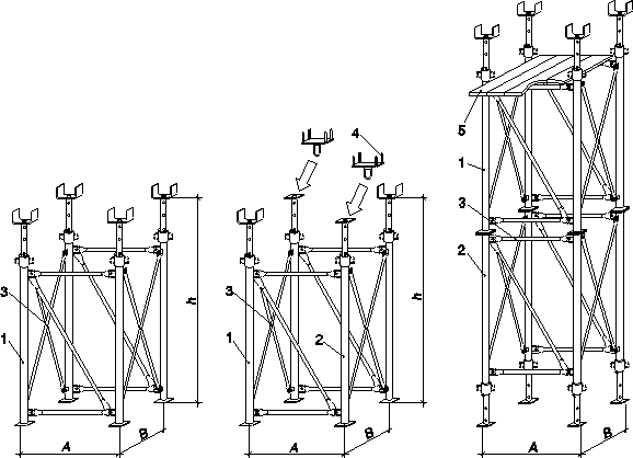 Опорные башни системы «МОДОСТР»