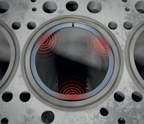 Отделение поршневого кольца от pабочей поверхности цилиндра