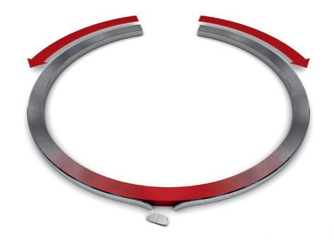 Отслаивание покрытия в области спинки кольца