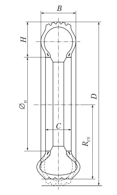 Параметры профиля пневматической шины