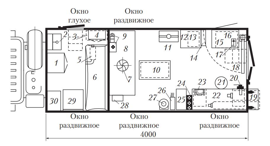 Передвижная авторемонтная мастерская типа ПАРМ