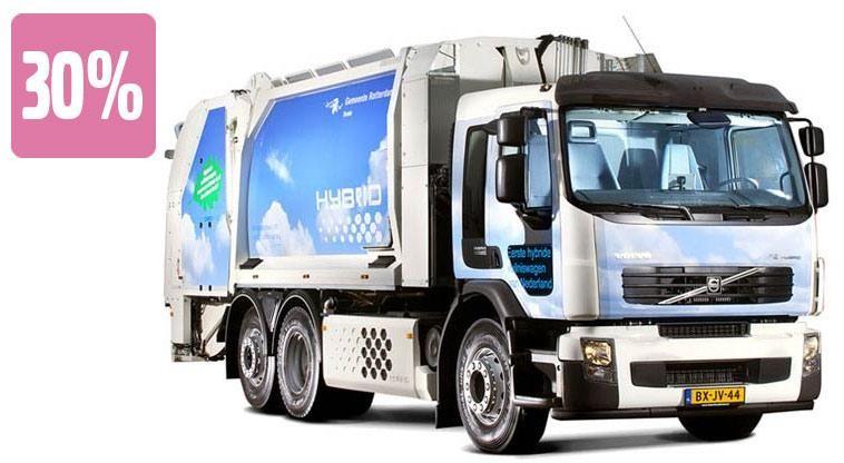 Первый тяжелый гибридный грузовик Volvo trucks hybrid