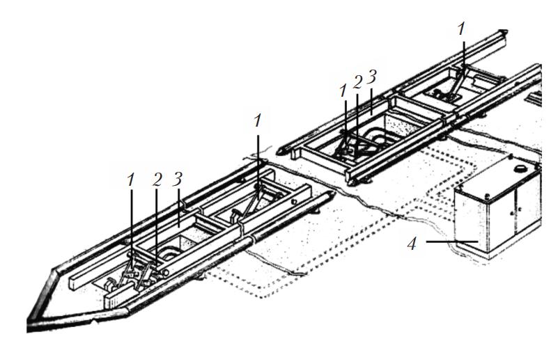 Подъемник для вывешивания колес ПТО 58